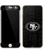 San Franciso 49ers Black & White iPhone 6/6s Skin