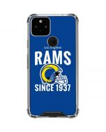 Los Angeles Rams Helmet Google Pixel 5 Clear Case