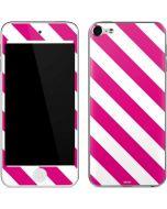 Pink and White Geometric Stripes Apple iPod Skin
