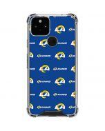 Los Angeles Rams Blitz Series Google Pixel 5 Clear Case