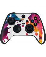 Chromatic Splatter White Xbox Series X Controller Skin