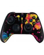 Chromatic Splatter Black Xbox Series X Controller Skin