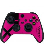 Black and Pink Arrows Xbox Series X Controller Skin