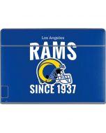 Los Angeles Rams Helmet Galaxy Book Keyboard Folio 12in Skin