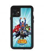 Justice League Team Power Up Blue iPhone 11 Waterproof Case