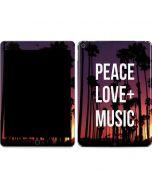 Peace Love And Music Apple iPad Air Skin