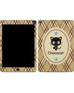 Chococat Brown and Blue Plaid Apple iPad Air Skin