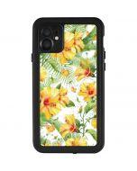 Yellow Hibiscus iPhone 11 Waterproof Case