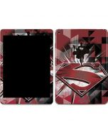 Red Superman Pattern Apple iPad Air Skin