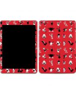 Looney Tunes Identity Red Pattern Apple iPad Air Skin