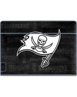 Tampa Bay Buccaneers Black & White Galaxy Book Keyboard Folio 12in Skin