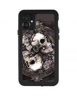 Skulls and Roses iPhone 11 Waterproof Case