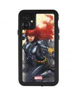 Black Widow in Action iPhone 11 Waterproof Case