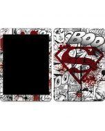 Superman Comic Logo in Red Apple iPad Air Skin