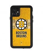 Boston Bruins Vintage iPhone 11 Waterproof Case