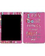 Philippians 4:13 Pink Apple iPad Air Skin