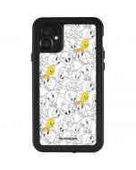 Tweety Super Sized Pattern iPhone 11 Waterproof Case