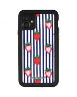 Strawberries and Stripes iPhone 11 Waterproof Case