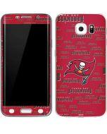 Tampa Bay Buccaneers Red Blast Galaxy S6 Edge Skin