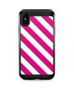 Pink and White Geometric Stripes iPhone XS Max Cargo Case
