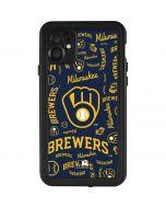 Milwaukee Brewers - Cap Logo Blast iPhone 11 Waterproof Case