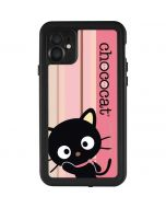 Chococat Pink and Brown Stripes iPhone 11 Waterproof Case