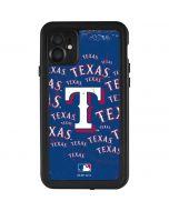 Texas Rangers - Cap Logo Blast iPhone 11 Waterproof Case