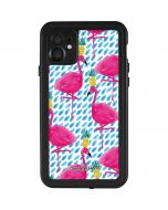 Party Flamingos iPhone 11 Waterproof Case