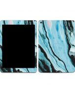 Aqua Blue Marble Ink Apple iPad Air Skin