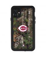 Cincinnati Reds Realtree Xtra Green Camo iPhone 11 Waterproof Case