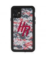 Houston Rockets Digi Camo iPhone 11 Waterproof Case