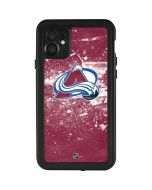 Colorado Avalanche Frozen iPhone 11 Waterproof Case