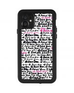 Written Love iPhone 11 Waterproof Case