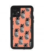 Gray Scale Pineapple iPhone 11 Waterproof Case