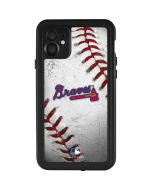 Atlanta Braves Game Ball iPhone 11 Waterproof Case