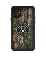 Milwaukee Brewers Realtree Xtra Green Camo iPhone 11 Waterproof Case