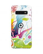 Abstraction White Galaxy S10 Plus Lite Case
