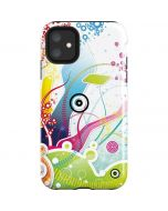 Abstraction White iPhone 11 Impact Case
