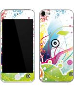 Abstraction White Apple iPod Skin