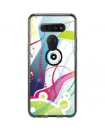 Abstraction White LG K51/Q51 Clear Case
