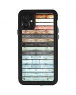 Wooden Stripes iPhone 11 Waterproof Case