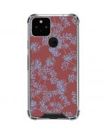 Airy Blue Floral Google Pixel 5 Clear Case