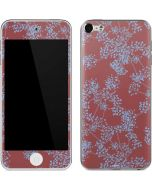 Airy Blue Floral Apple iPod Skin