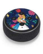 Alice in Wonderland Floral Print Amazon Echo Dot Skin