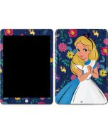 Alice in Wonderland Floral Print Apple iPad Skin