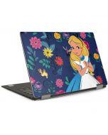 Alice in Wonderland Floral Print Dell XPS Skin