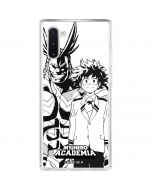 All Might and Deku Black And White Galaxy Note 10 Clear Case