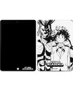 All Might and Deku Black And White Apple iPad Skin