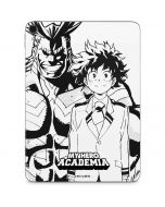 All Might and Deku Black And White Apple iPad Pro Skin