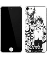 All Might and Deku Black And White Apple iPod Skin